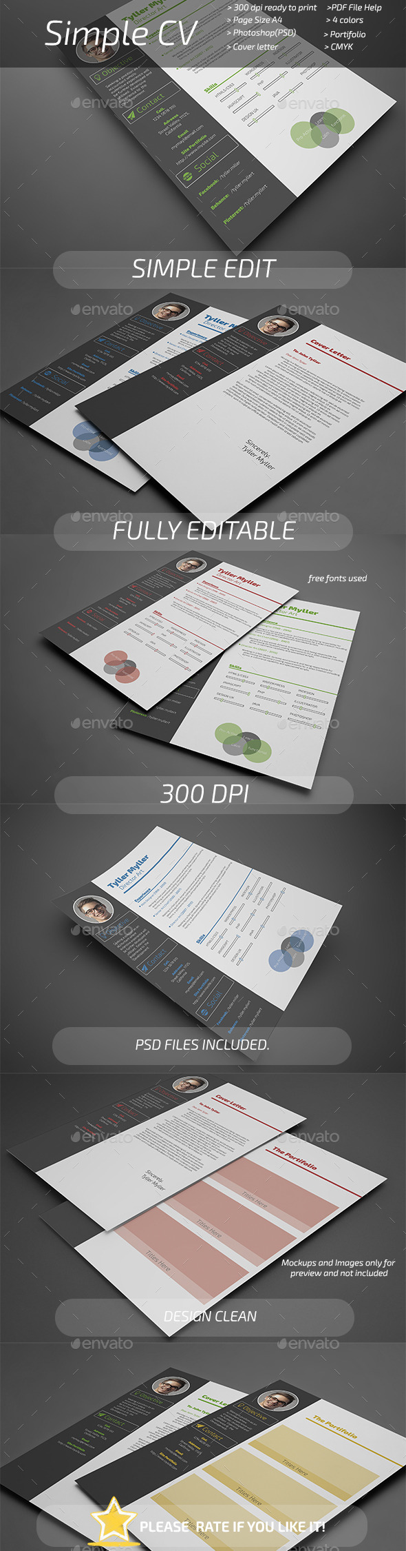 GraphicRiver Simple CV 10899246