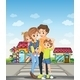 Family on a Walk  - GraphicRiver Item for Sale