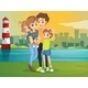 Family at Lighthouse  - GraphicRiver Item for Sale