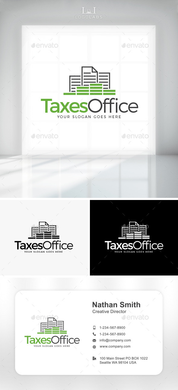 GraphicRiver Taxes Office Logo 10759706