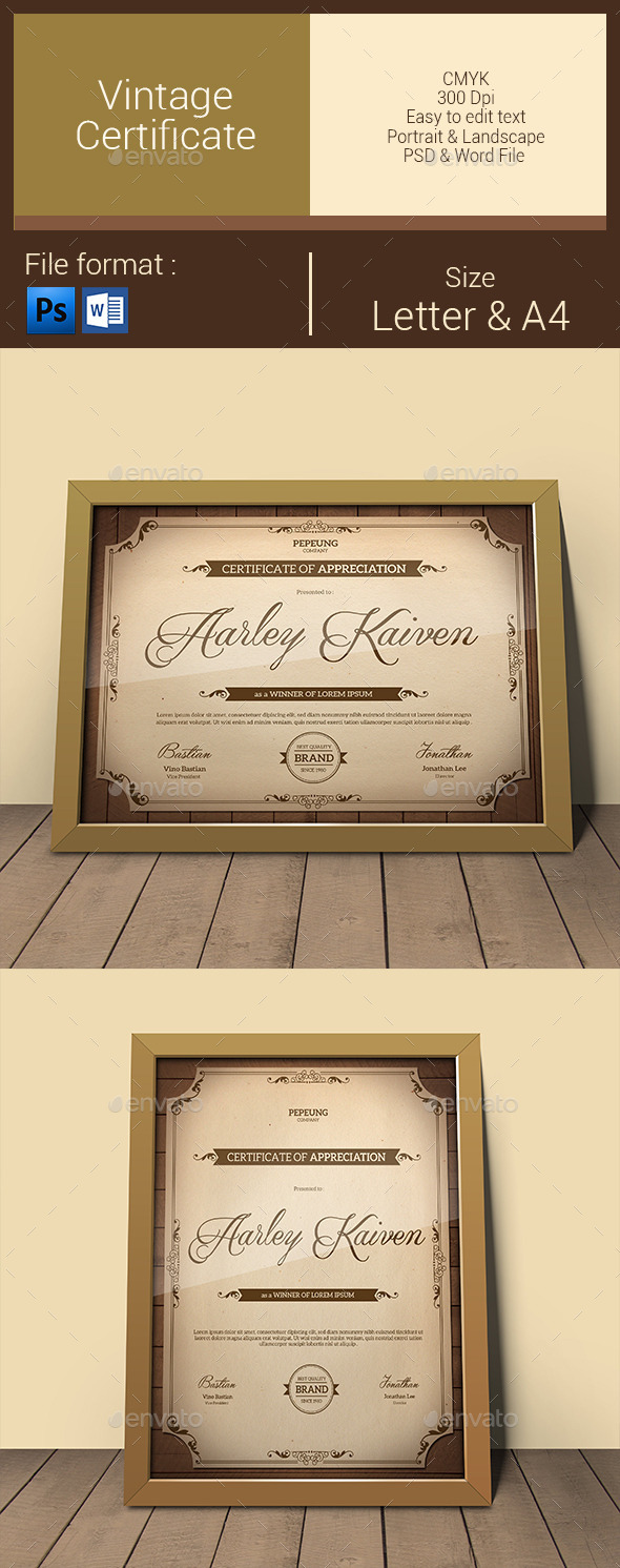 GraphicRiver Vintage Certificate 10899601