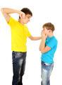 Teenager threaten Kid - PhotoDune Item for Sale