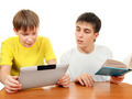 Brothers with a Book and Tablet - PhotoDune Item for Sale