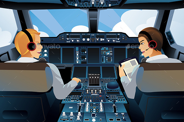 GraphicRiver Pilot in Cockpit 10899845