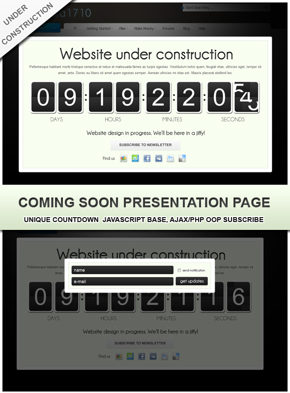 CodeCanyon Coming soon landing page 135441