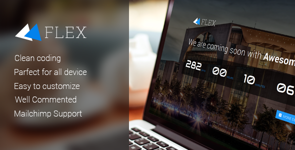 ThemeForest Flex Responsive Coming Soon Template 10813494
