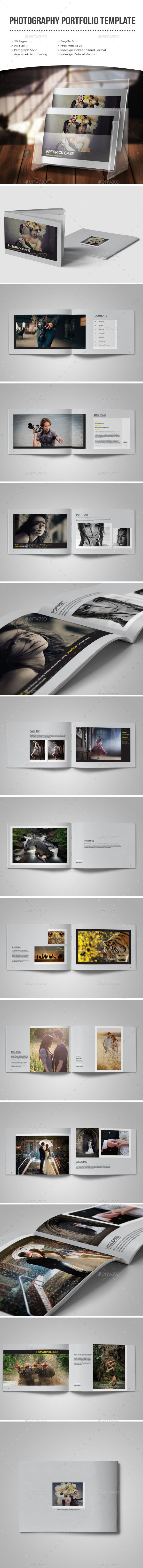 GraphicRiver Photography Portfolio Template 10901007