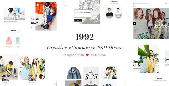 ThemeForest 1992 Creative eCommerce PSD Theme 10901011