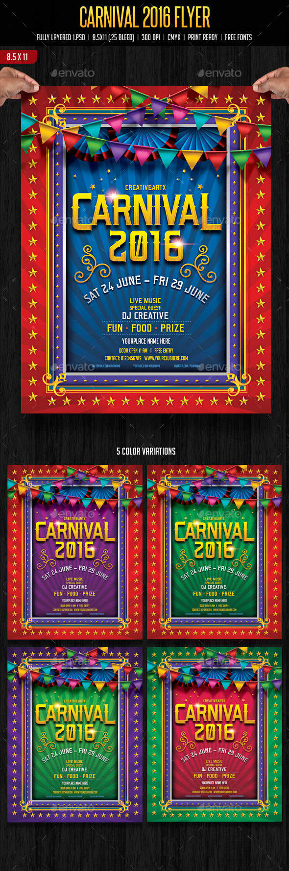 GraphicRiver Carnival Flyer 10901045