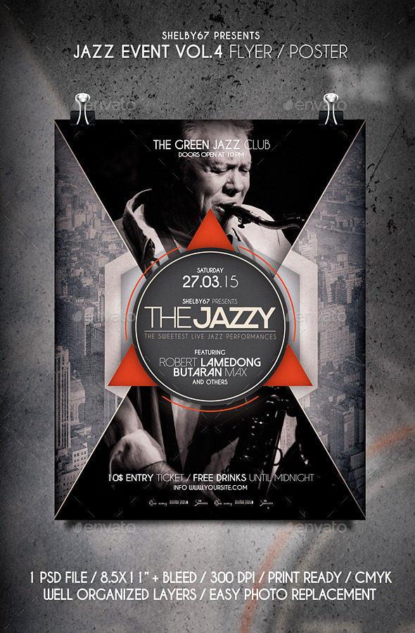 GraphicRiver Jazz Event Flyer Poster Vol.4 10901128