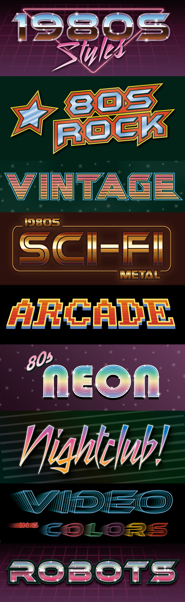 GraphicRiver 1980s Graphic Styles 10901228