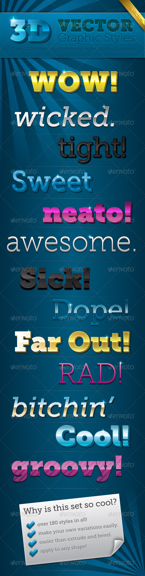 GraphicRiver 3D Vector Graphic Styles Pack 135446