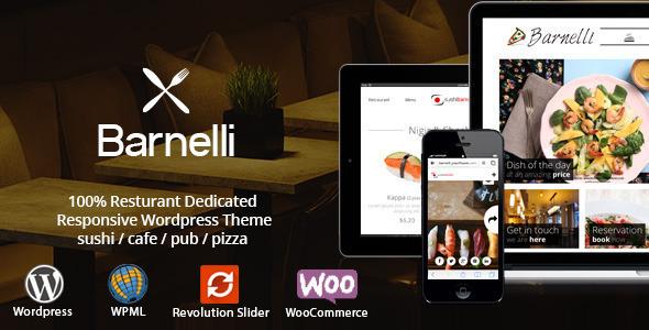 Barnelli - Restaurant Responsive Wordpress Theme - Restaurants & Cafes Entertainment