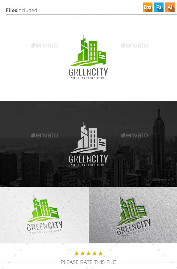 GraphicRiver Green City Logo 10901626