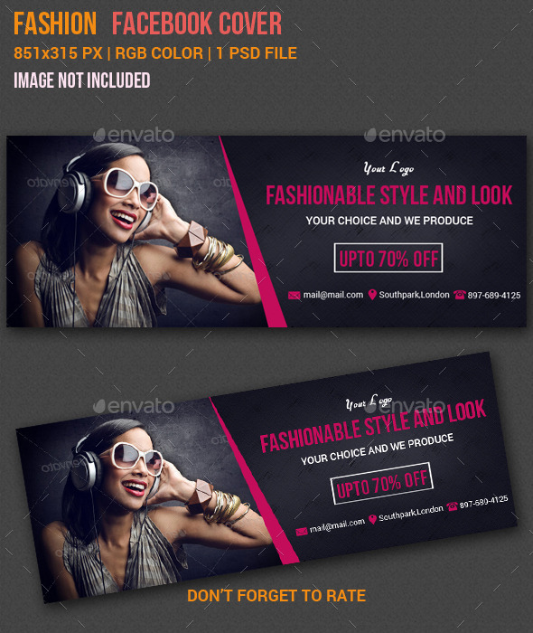 GraphicRiver Fashion Facebook Cover 10901704