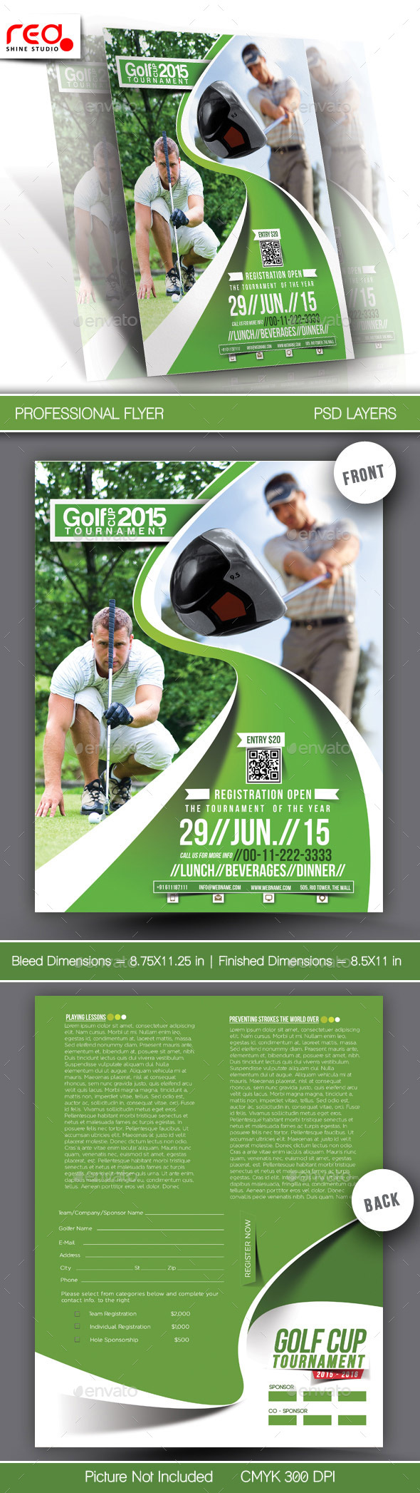 GraphicRiver Golf Club Flyer & Poster Template 10901922