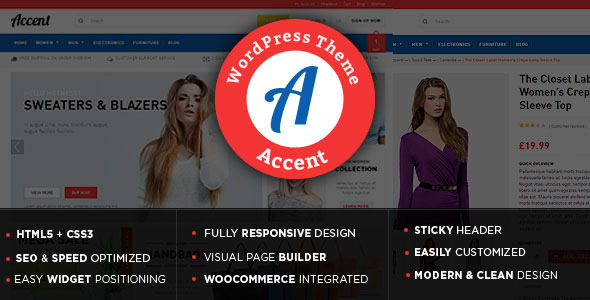 ThemeForest Accent WooCommerce Theme 10766492