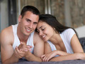 couple relax and have fun in bed - PhotoDune Item for Sale