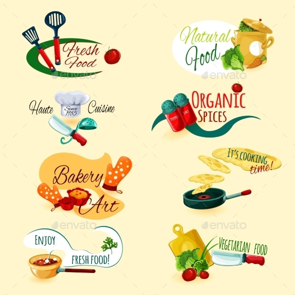 GraphicRiver Cooking Emblems Set 10902222