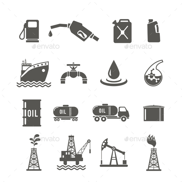 GraphicRiver Petroleum Industry Icon Set 10902232