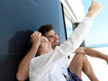 young couple making selfie together at home - PhotoDune Item for Sale
