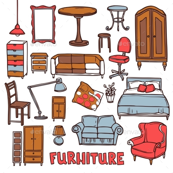 GraphicRiver Home Furniture Set 10902241