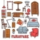 Home Furniture Set - GraphicRiver Item for Sale