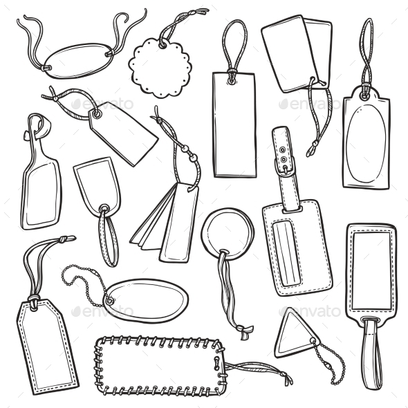GraphicRiver Tags Sketch Set 10902243