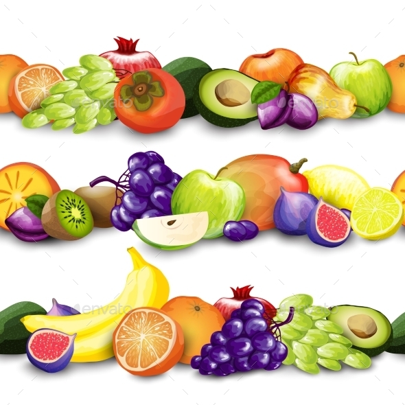 GraphicRiver Fruits Borders Illustration 10902344