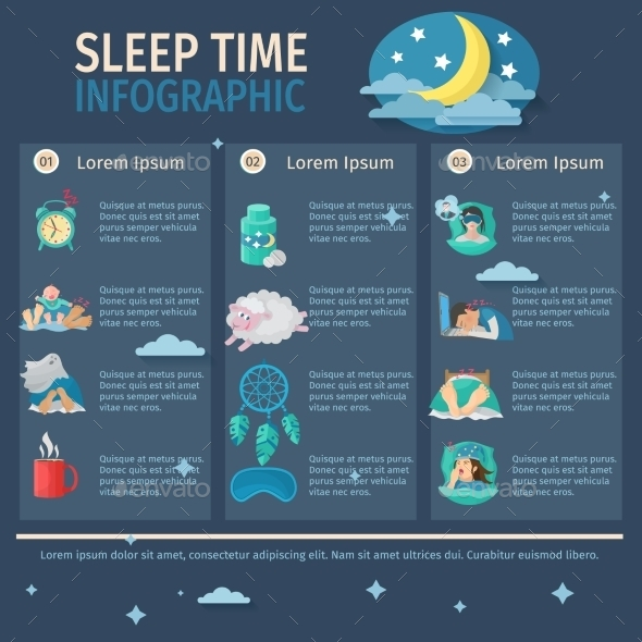 GraphicRiver Sleep Time Infographics 10902350