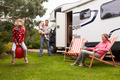Family Enjoying Camping Holiday In Camper Van - PhotoDune Item for Sale
