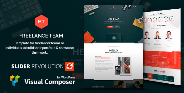 ThemeForest Freelance Team Portfolio & Shop WordPress Theme 10707768
