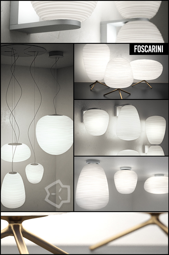 3DOcean RITUALS by Foscarini Lamps Collection 10903302