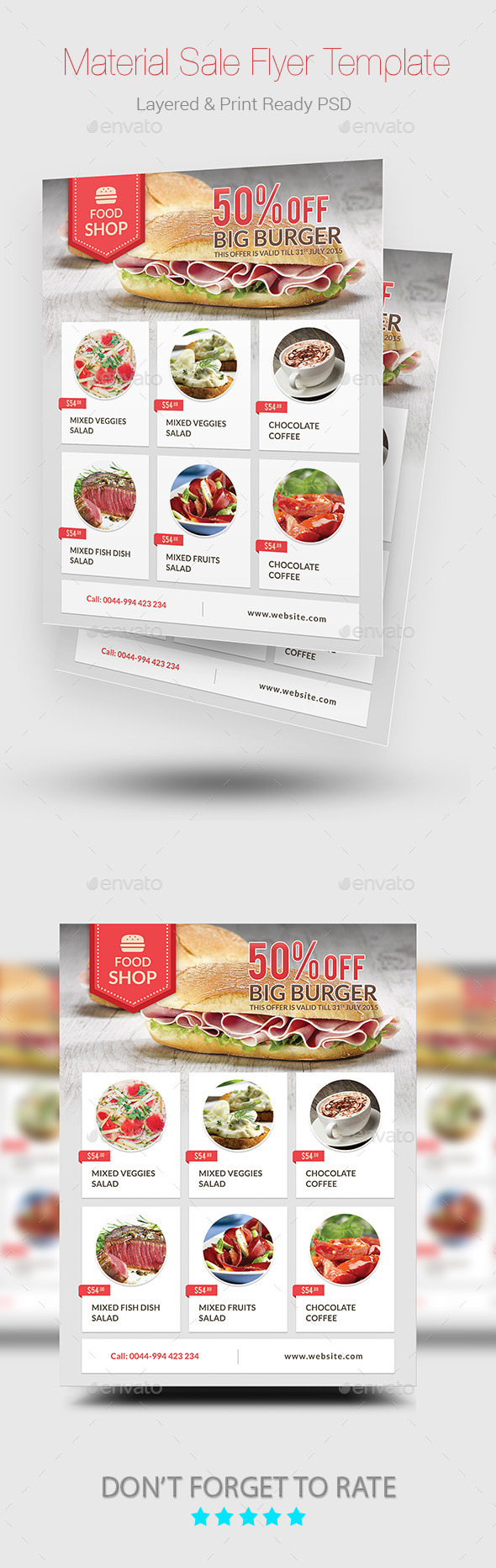GraphicRiver Material Sale Flyer 10903378
