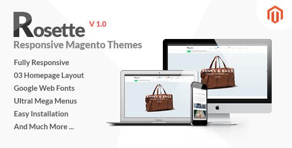 ThemeForest Rosette Responsive Multipurpose Magento theme 10903447