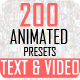 200 FFX Presets Text & Video - VideoHive Item for Sale