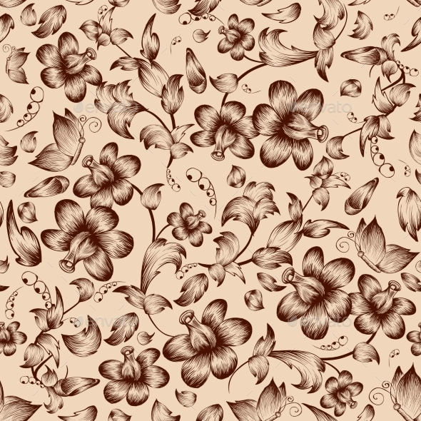 GraphicRiver Flower Pattern 10903561