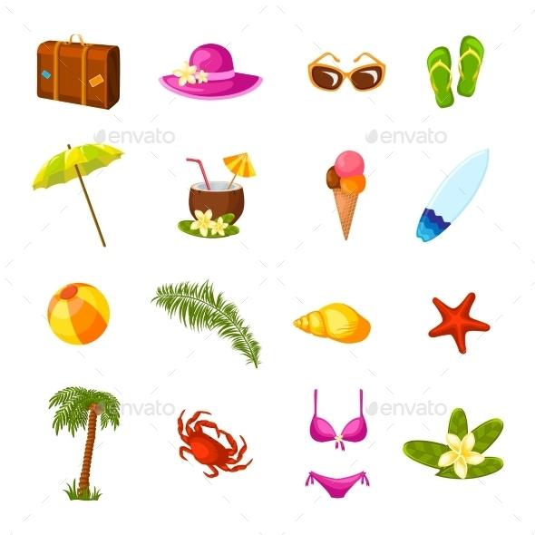 GraphicRiver Beach Icons 10903563