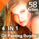 58  Realistic Oil Painting  Effects Bundle v.2 - GraphicRiver Item for Sale