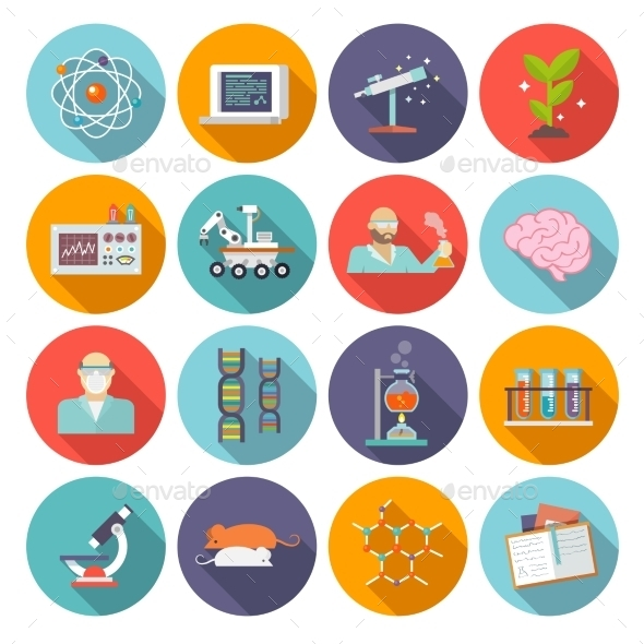 GraphicRiver Science And Research Icon Flat 10903647