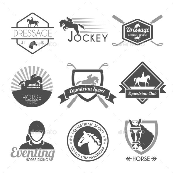 GraphicRiver Jockey Label Set 10903689