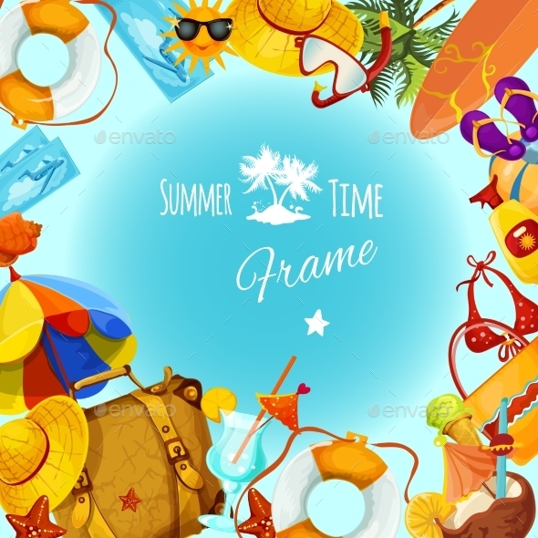 GraphicRiver Summer Holidays Frame 10903706