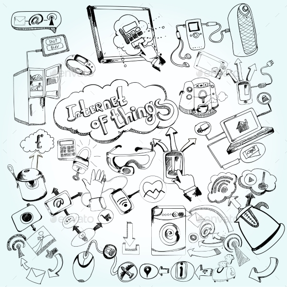 GraphicRiver Internet Of Things Doodles 10903725