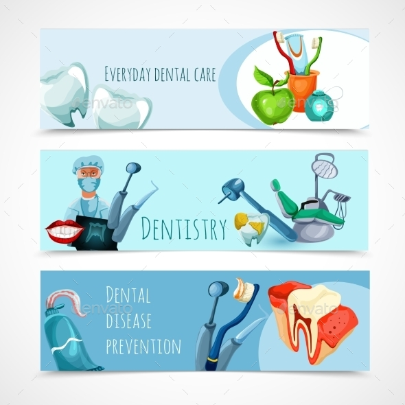 GraphicRiver Stomatology Banner Set 10903728