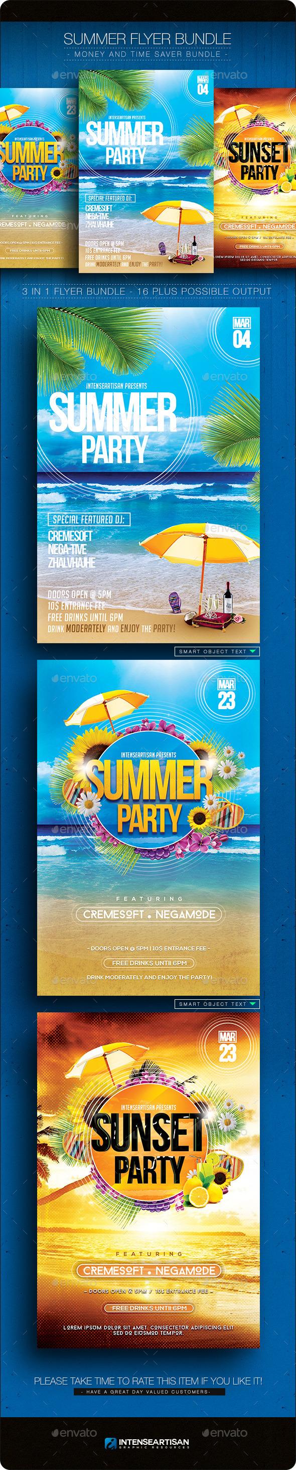GraphicRiver Summer Flyer Bundle V.1 10903746