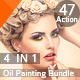 47 Realistic Oil Painting  Effects Bundle - GraphicRiver Item for Sale
