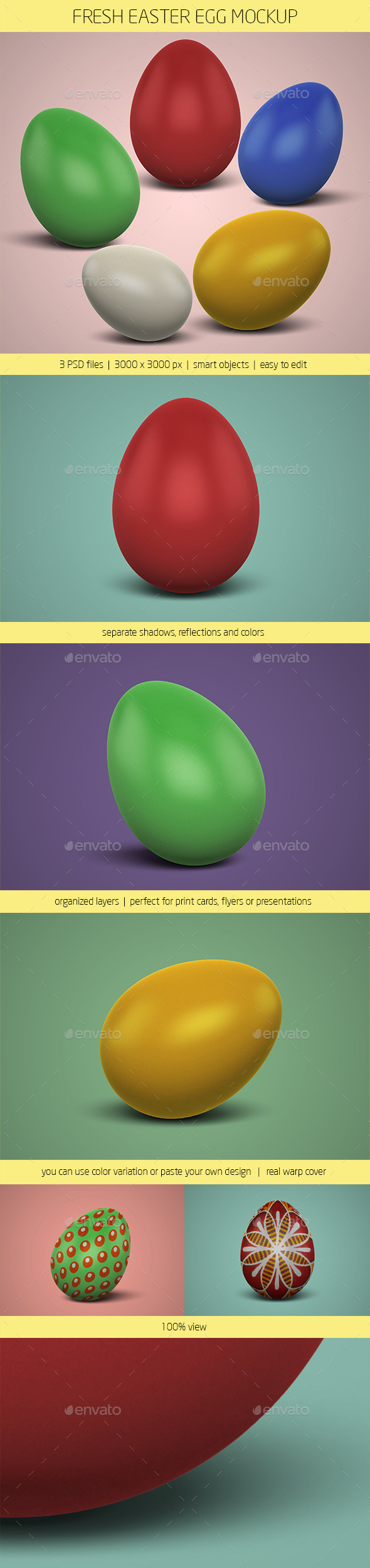 GraphicRiver Fresh Easter Egg Mockup 10903752