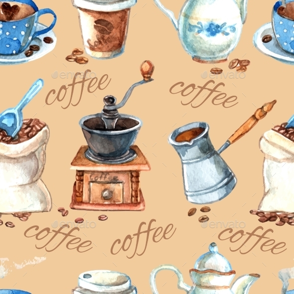 GraphicRiver Coffee Pattern 10903778