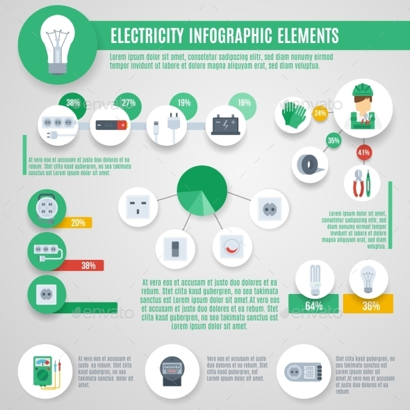 GraphicRiver Electricity Infographics Set 10903792
