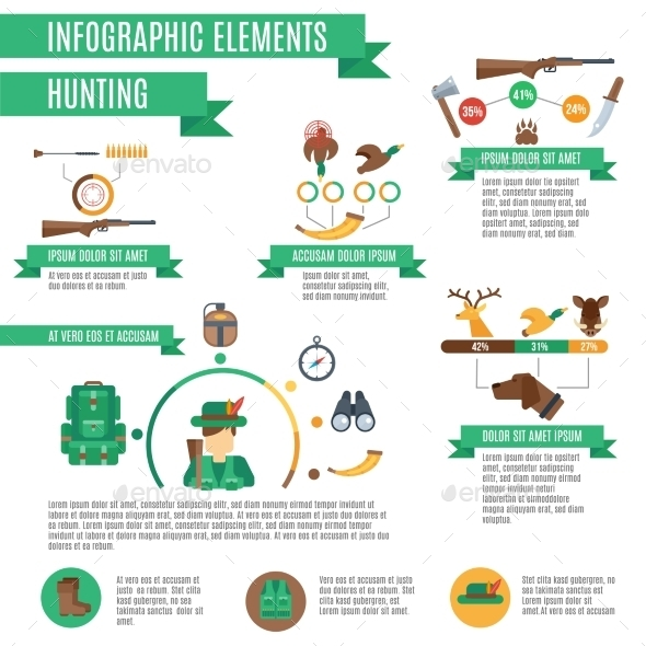 GraphicRiver Hunting Infographics Set 10903795